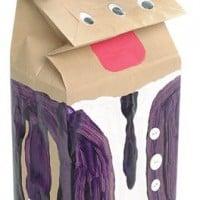 יצירה לילדים - בובה משקית נייר