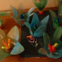 הכנת פרחים מבקבוקים - מיחזור