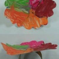 יצירה לילדים - צמיד עם פרח