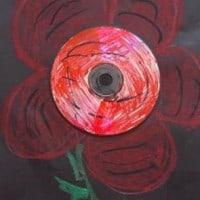 יצירה לילדים – פרח מדיסק