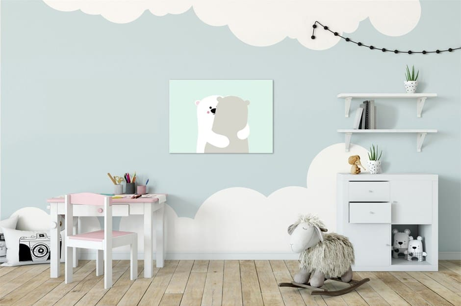 צביעת קיר בחדר ילדים