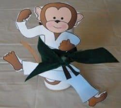 יצירה לילדים - קוף