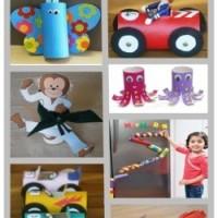 עבודות יצירה לילדים עם גלילי נייר טואלט