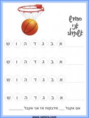 גליון התנהגות - כדורסל
